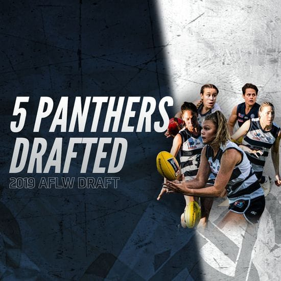 Five Panthers taken in AFLW Draft