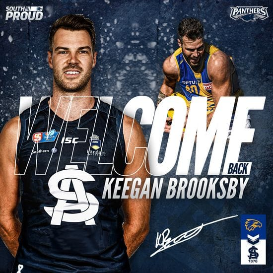 Brooksby back in blue and white for 2020