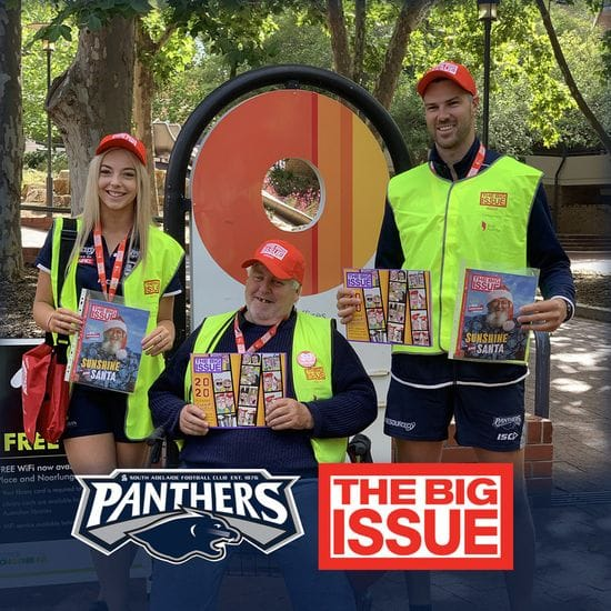 Panthers help raise The Big Issue