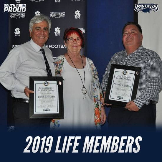 2019 South Adelaide Football Club AGM - Life Memberships and Service Merit Certificates