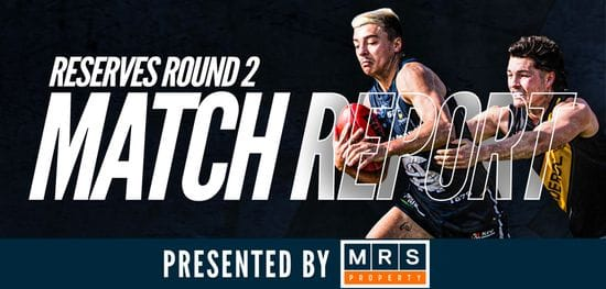 MRS Property Reserves Match Report Round 2: South vs Glenelg