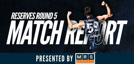 MRS Property Reserves Match Report Round 5: South vs West