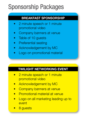 Gold Coast Central Chamber of Commerce sponsorship packages