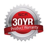 SCR 30 year warranty