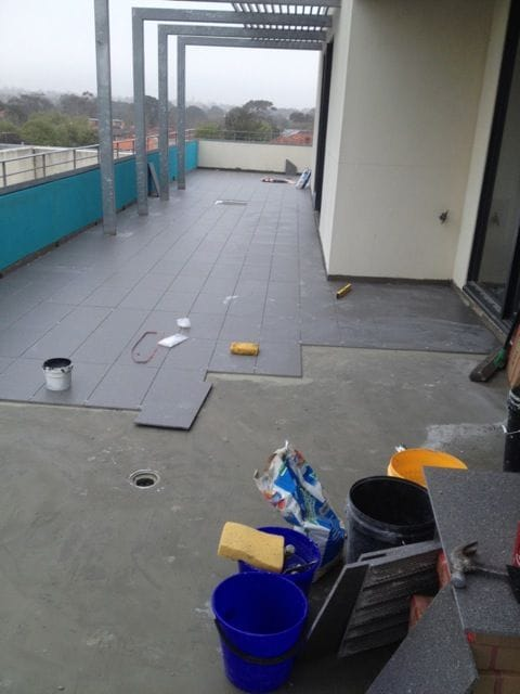 Tiling body corporate balcony on Ormond Road, Elwood | SCR Melbourne