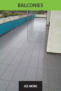 balconies, tiles