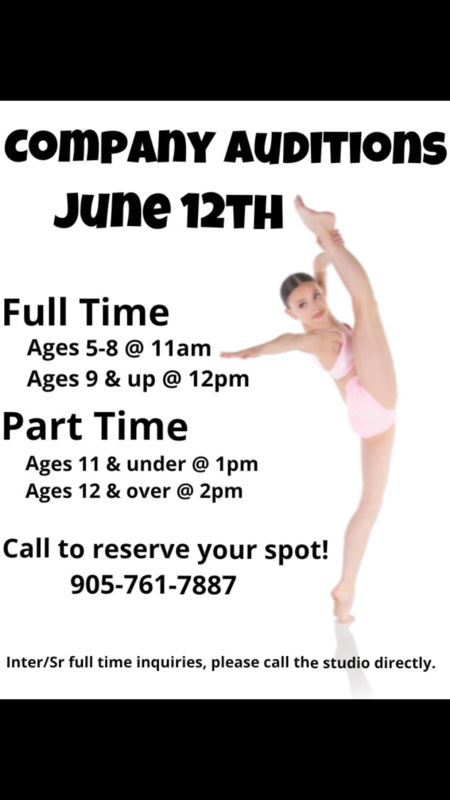 Company Auditions June 12th