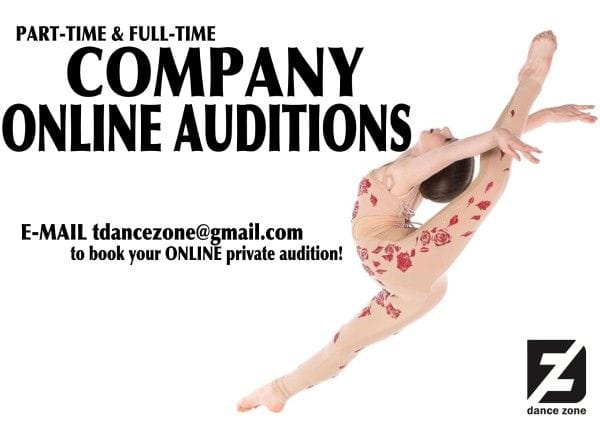 Company Online Auditions at The Dance Zone
