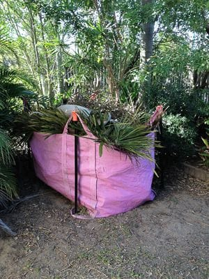Aussie Palm Clean Mackay green bag waste solutions skip bags pink bags