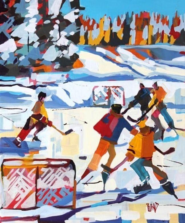 Hockey and Winter Sun