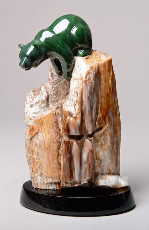 Climbing Bear, Petrified Wood