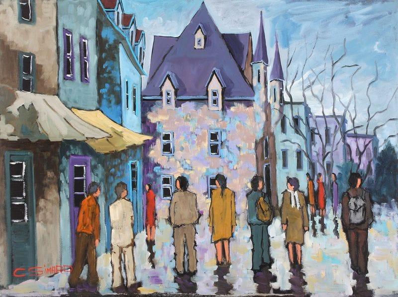 Touristes dans le vieux Quebec