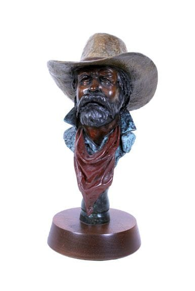 Cowboy Bust Mini