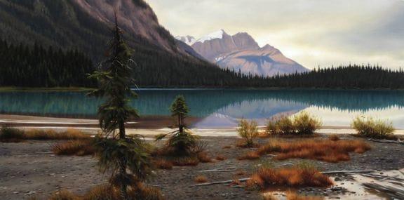Along the Shore of Emerald Lake