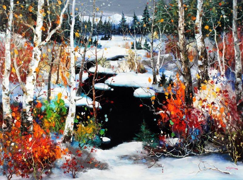 Striking Winter Scene