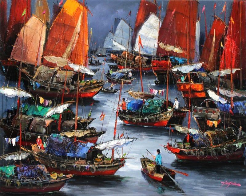Fishing Harbour in Hong Kong