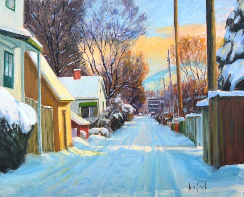 Winter Back Street Kelowna
