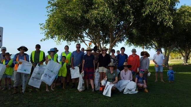 Community joins to clean up Town beach foreshore