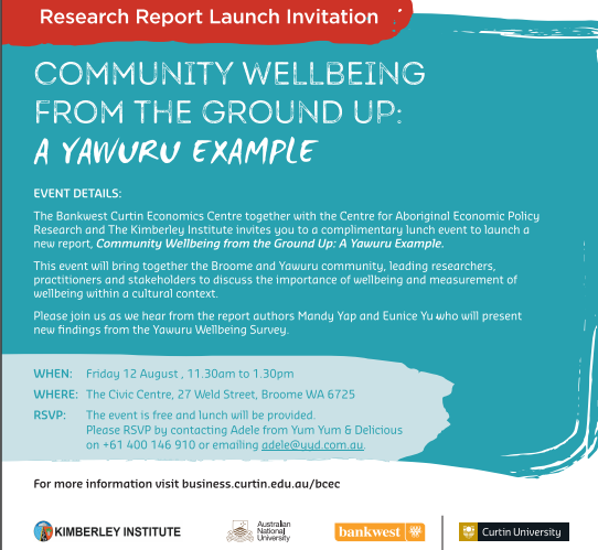 INVITATION: Community wellbeing from the ground up: A Yawuru example