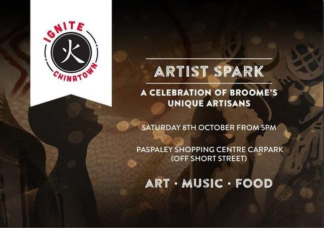 ARTIST SPARK - HAPPENING SATURDAY 8 OCTOBER FROM 5PM