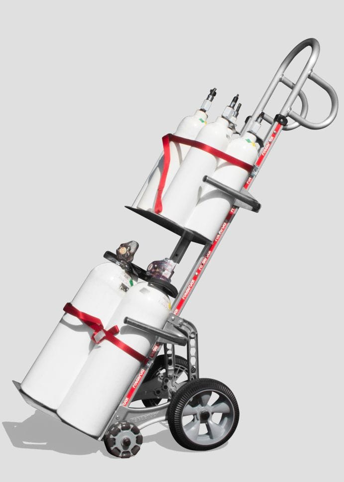 Rotatruck Dual Nosed Multi Gas Cylinder Hand Truck - Pro Range - G2 Pro - Tall - Dual Nose
