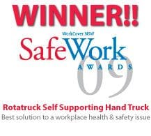 Rotatruck Self Supporting Hand Trolley - Winner Safe Work Award 2009