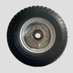"Wheel, 215mm, Foamed filled rubber 3/4"" bearing"