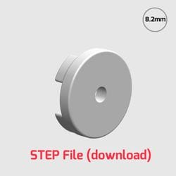 3D Step File - 8.2mm customisable hub for use with 35mm Rotacasters (R2-0354-__)