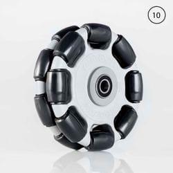 Rotacaster 125mm Double Polyurethane Roller / Sealed Bearing 10mm