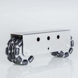 Rotacaster 125mm Quad, Polyurethane Roller/- Multimount, 2 x R4-125