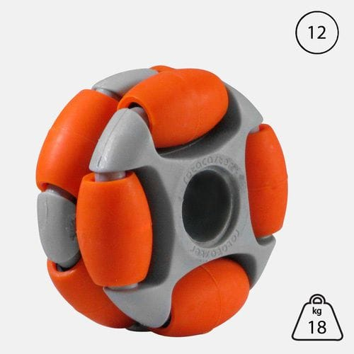 Rotacaster 48mm Double (60A) medium polyurethane roller- 12mm plain Bore