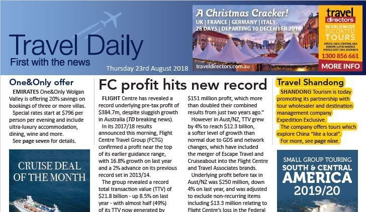 Expedition Exclusive is featured on the Travel Daily's news