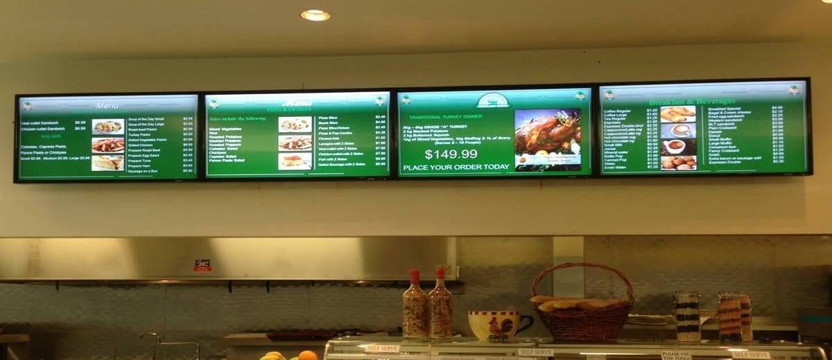 Digital Menu Board Wall Mounts Micron Display Solutions