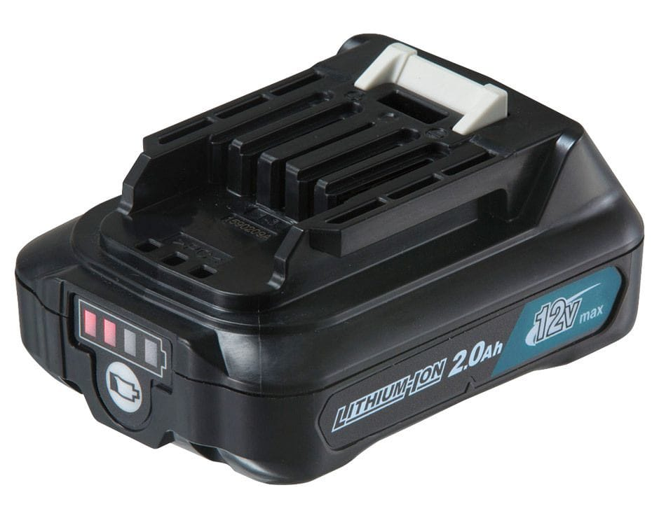 Makita BL1021B-L 12V Max 2.0Ah Li-ion CXT Cordless Slide Battery with Gauge