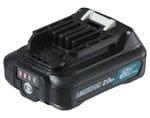 Makita BL1021B-L 12V Max 2.0Ah Li-ion CXT Cordless Slide Battery with Gauge