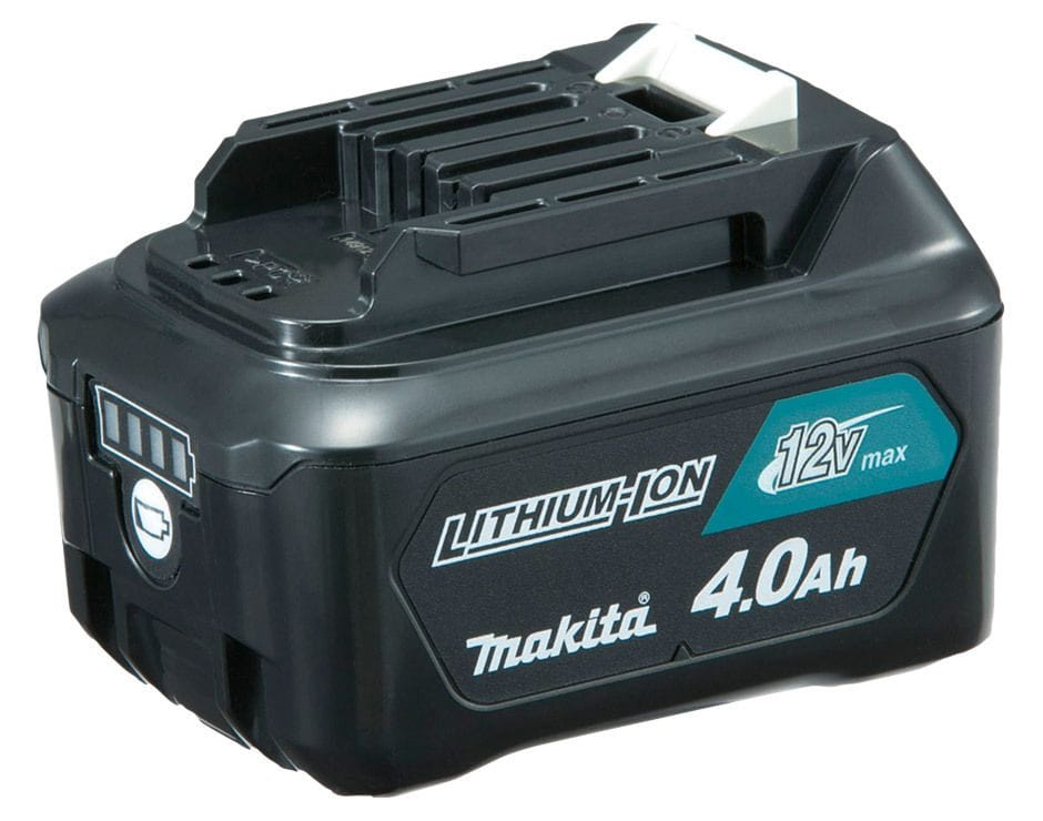 Makita BL1041B-L 12V Max 4.0Ah Li-ion CXT Cordless Slide Battery with Gauge
