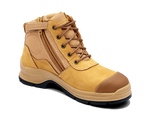 Blundstone 318 - Lace Up Zip Wheat Nubuck Safety Boots