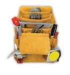Kuny AP1933 10 Pocket Nail & Tool Bag (full grain leather)