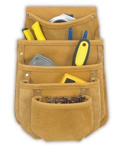 Kuny DW 1040 5 Pocket Drywall/Tool Pouch (full grain leather)