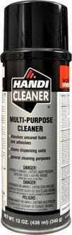 HANDI-FOAM P10083 POLY URETHANE CLEANER 12OZ