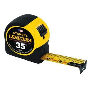 "STANLEY FAT MAX 1-1/4"" X 35' TAPE MEASURE"