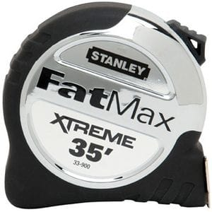 """STANLEY FAT MAX 1-1/4"""" X 25' EXTREME TAPE MEASURE"""