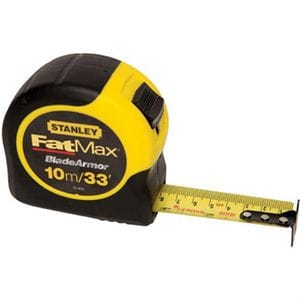 "STANLEY FAT MAX 1-1/4"" X 33'/10M TAPE MEASURE"
