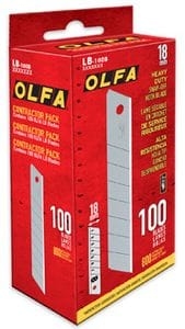 Olfa LB/CP100 18MM Heavy Duty Blades 100/pack