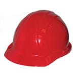 HARD HAT RED C/W RATCHET BAND