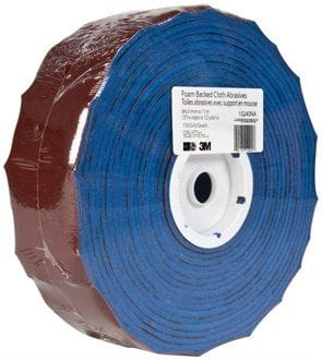 3M 100g Foam Back Sandpaper 3-5/16 x 12yd Roll