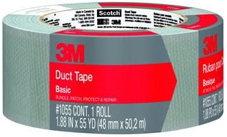 "SILVER DUCT TAPE 2"" X 180' ROLL"
