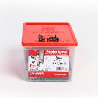 "GRABBER V23 7 X 7/16"" PAN HEAD FRAMING SCREWS 5LB BOX"