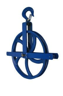 "12"" Pulley With Safety Grab Hook 1000 Lb Cap."