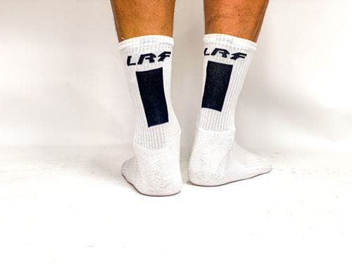 LRF Calf Sock Vertical Print (white)